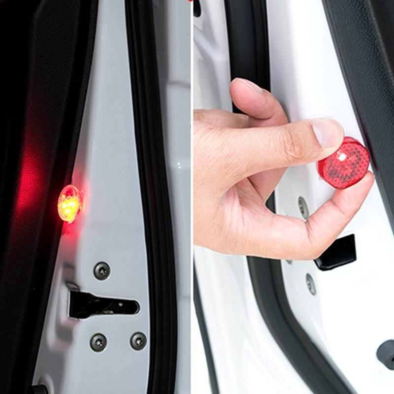 2PCS  LED Car Door Warning Light Waterproof Anti-collision Lights Burst Flashing Safety Auto Warn Lamp LCC77