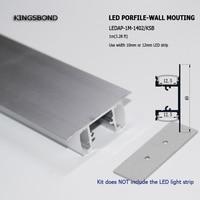 10 PZ * 1 M montaggio a parete in alluminio profilo led in alluminio slot per 12mm larghezza bordo del PWB ha condotto la striscia ap e giù side emitting