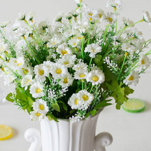 Fake Flowers 28 Heads Spring Daisy Artificial Flower Gerbera for DIY Wedding Party decoration Flores