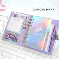 JUGAL Kawaii DIY Agendas Notebook A6 Spiral Diary Planner Note Paper Organizer Note Book Girls Fichario Traveller Journal