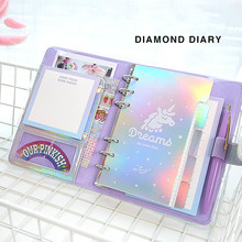 JUGAL Kawaii DIY Agenden Notebook A6 Spirale Tagebuch Planer Note Papier Organizer Hinweis Buch Mädchen Fichario Reisenden Journal