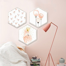 Nordic style Flamingos balloon pink Decorative paintings Simple and modern living room Hanging pictures feather Wall