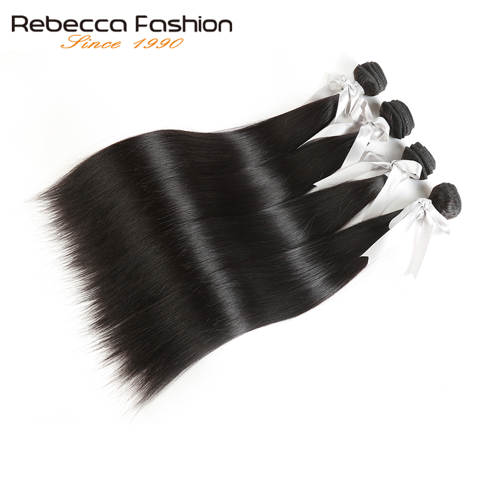 Rebecca Malaysian Straight Hair 4 Bundles Deal 10-26 tums icke remy - Barbershop - Foto 1