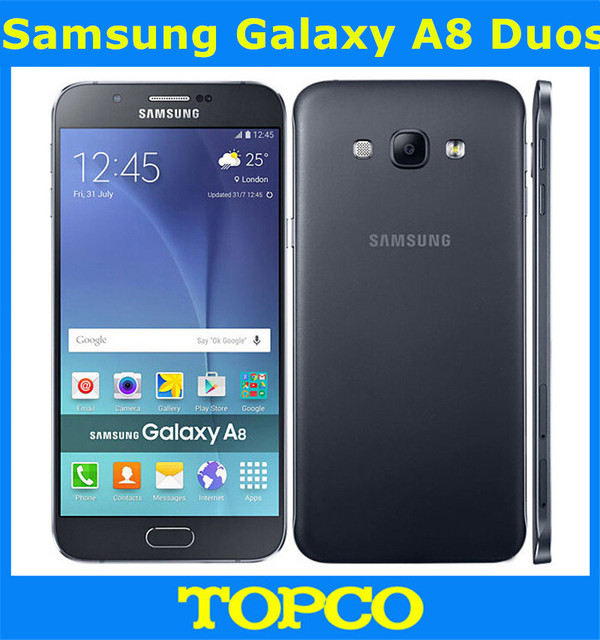 Samsung Galaxy A8 Duos Original Unlocked 4G GSM Android Mobile Phone A8000 Octa Core 2GB RAM