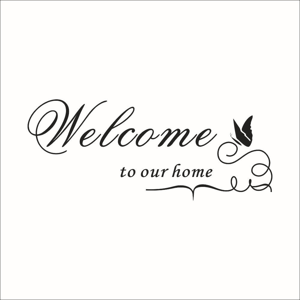 Welcome To My Home Quotes Wall Sticker Living Rooms Poster Diy Pegatinas De Pared Vinyl Removable Decoration Decor In Stickers From Garden