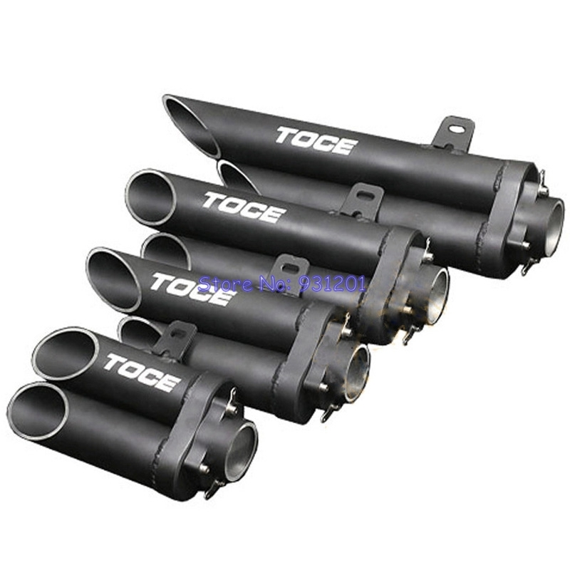 Muffler Exhaust-Pipe TOCE Inlet 51mm Universal Motorcycle MT09 YAMAHA for R1 R6 R15/R25/R3/..