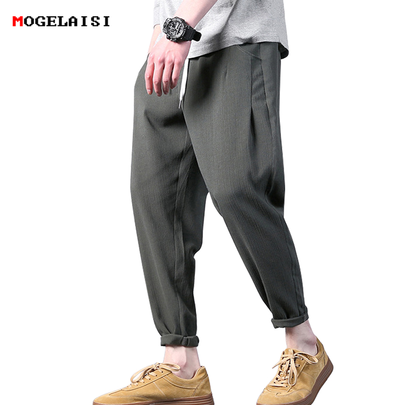 Men Trousers Business Cotton Plaid Zipper Blue Black Slim Male Straight Breathable Check Formal Full Length