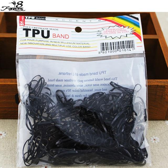 300 pcs/pack corde en caoutchouc élastique pour queue de cheval élastique bandes de cheveux cravates tresses tresses pince à cheveux bandeau femmes beauté cheveux accessoires