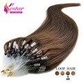 Na venda de loop micro anel extensões do cabelo humano em linha reta #4 cabelo remy indiano 0.5 g/pçs sem derramamento de nenhum emaranhado laço de Cabelo