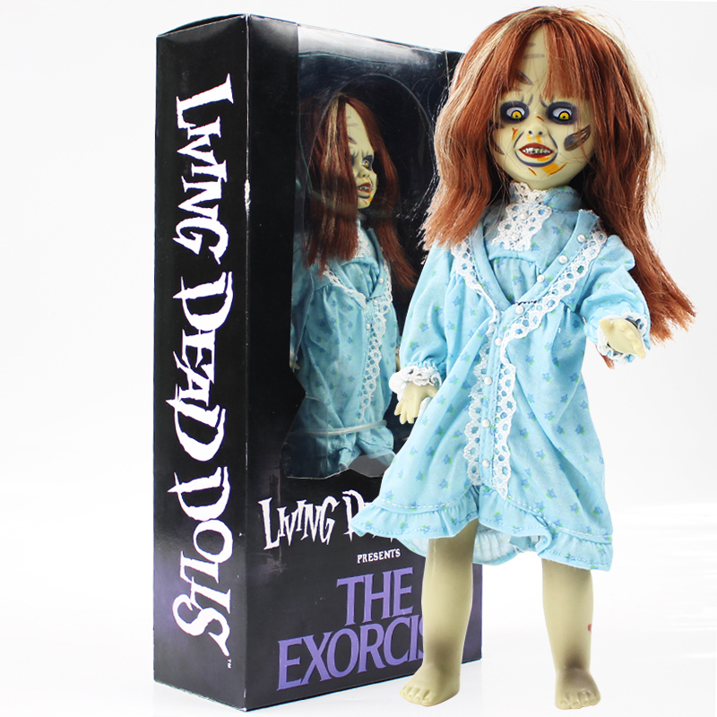 цена на 26cm Terror Film The Exorcist Living Dead Dolls Scary Bride of Chucky Classic PVC Action Figure Toys Halloween Gift For Kids