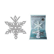 YaMinSanNiO 1 Pcs/lot Metal Cutting Dies Scrapbooking Card Making DIY Embossing Cuts Craft Stencils Die Snowflake Decor