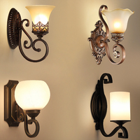European Artistic Vintage Wall Lamp For Living Room Home Lighting Glass LED Wall Sconce Arandela Lamparas De Pared