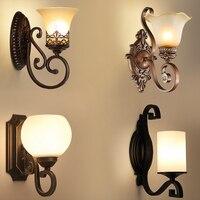 Europeu artístico do vintage lâmpada de parede para sala estar iluminação casa vidro led arandela lamparas pared|Luminárias de parede| |  -