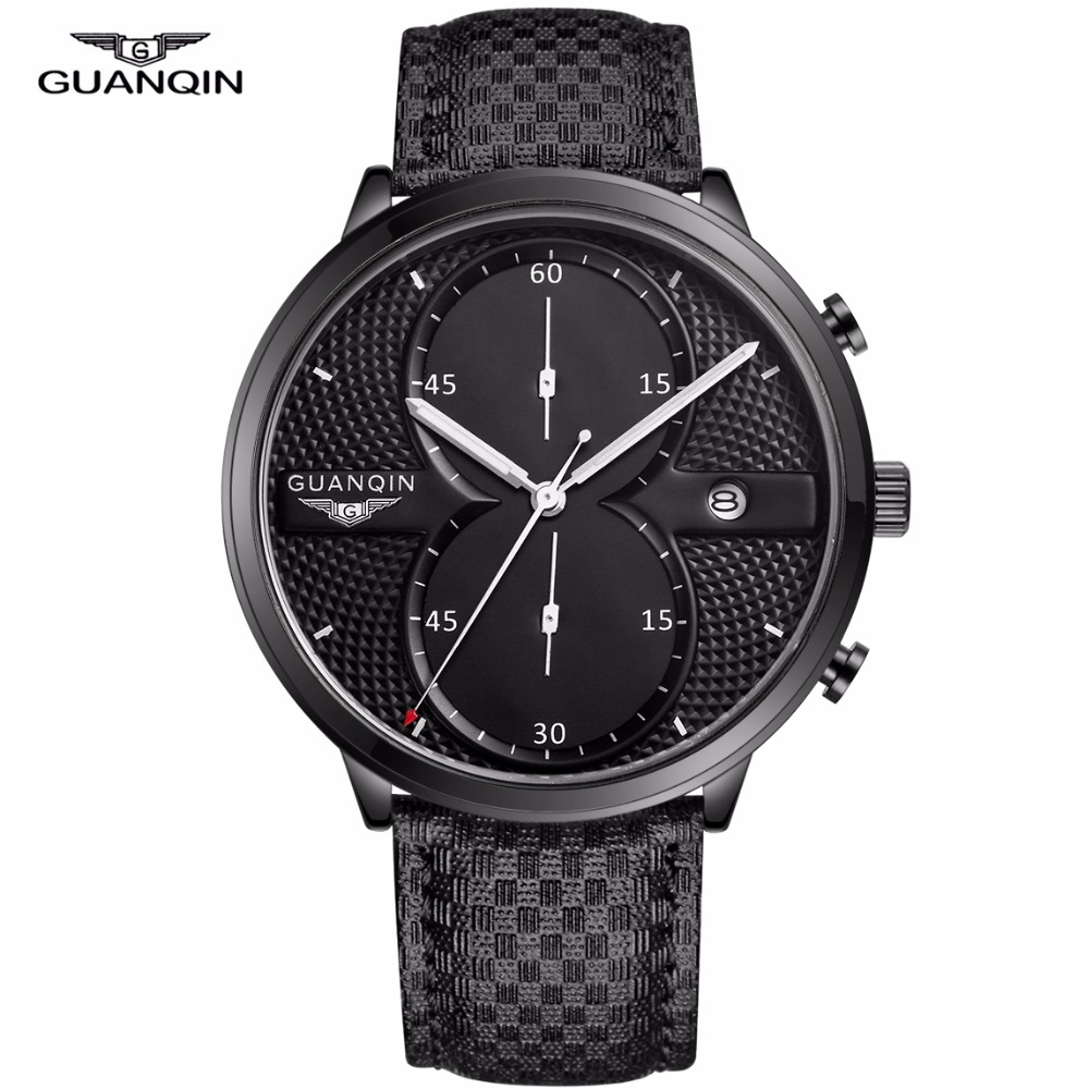 compare prices on wrist watch companies online shopping buy low guanqin mens business watches top brand luxury waterproof chronograph watch man leather sport quartz wrist watch
