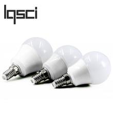 LQSCI LED Bulb Lamps E14 220V-240V Light Bulb Smart IC Real Power 4W 6W 7W 9W 12W High Brightness Lampada LED Bombillas