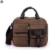 FUSHAN High Quality Men Business Crossbody Bag Printing Travel Handbag Vintage Men's Messenger Bags Canvas Shoulder Handbag