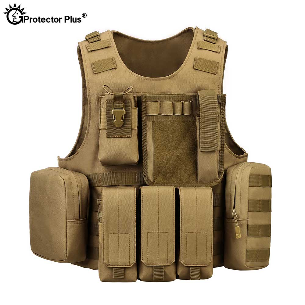 PROTECTOR PLUS Tactical Vest Plate Carrier Professional Military Molle Amphibious Waistcoat Airsoft Combat Assault Sport Safety