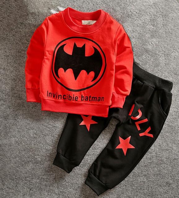 Beautiful Batman Suit Home Clothing Boys Batmen Costume Girls Korean Fashion Clothing  Set INS Spiderman Boys Luxury Baby Tracksuit Kids
