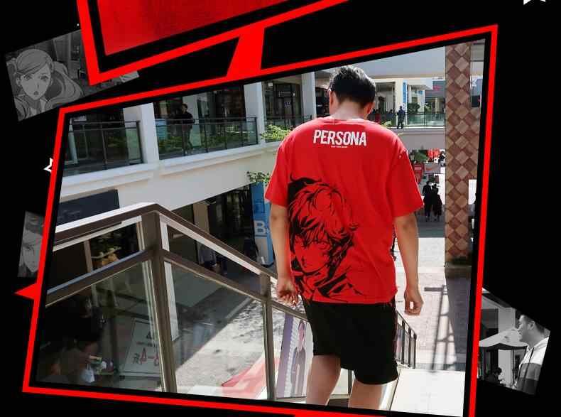 Высокое качество Q унисекс с рисунком из аниме Persona5 P5 Рен Амамия повседневных футболок с коротким рукавом Persona 5 P5 Акира Курусу повседневных футболок с коротким рукавом футболки