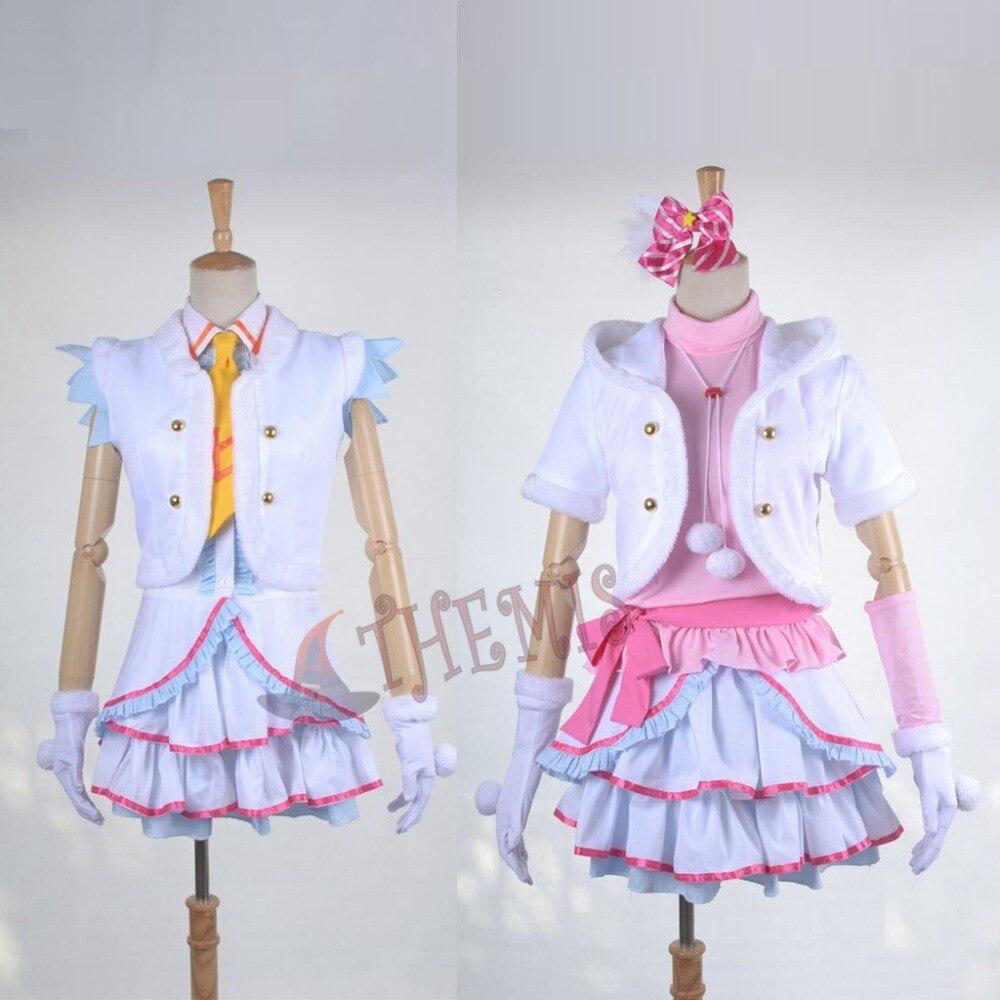 Athemis Anime Girls Love Live Minami Kotori/Yazawa Nico Cosplay Costume Lovely Women Dress Outfit Custom Made