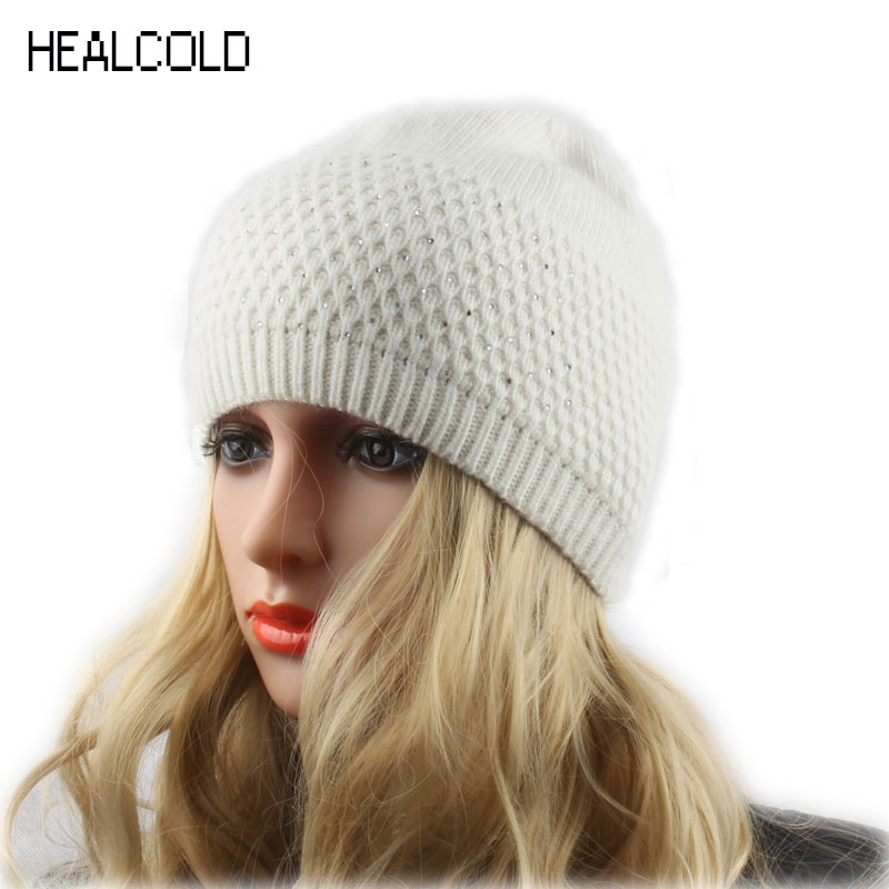 Ženska kapa rhinestone vuna pletena beanies za dame zimske proljeće kapice Hat ženske Cap Skullies
