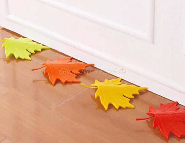 50PCS New Arrivel Hot Maple Autumn Leaf Style Home Decor Finger Safety Door Stop Stopper Doorstop юбка fz1850 maple leaf 2014