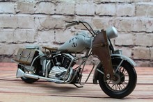 Free Shipping Handmade Antique Grey MotorCycle Model 1945 Home Decor Motorcycle Model