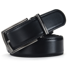 Classic Leather Belt With A Pin Buckle For Men