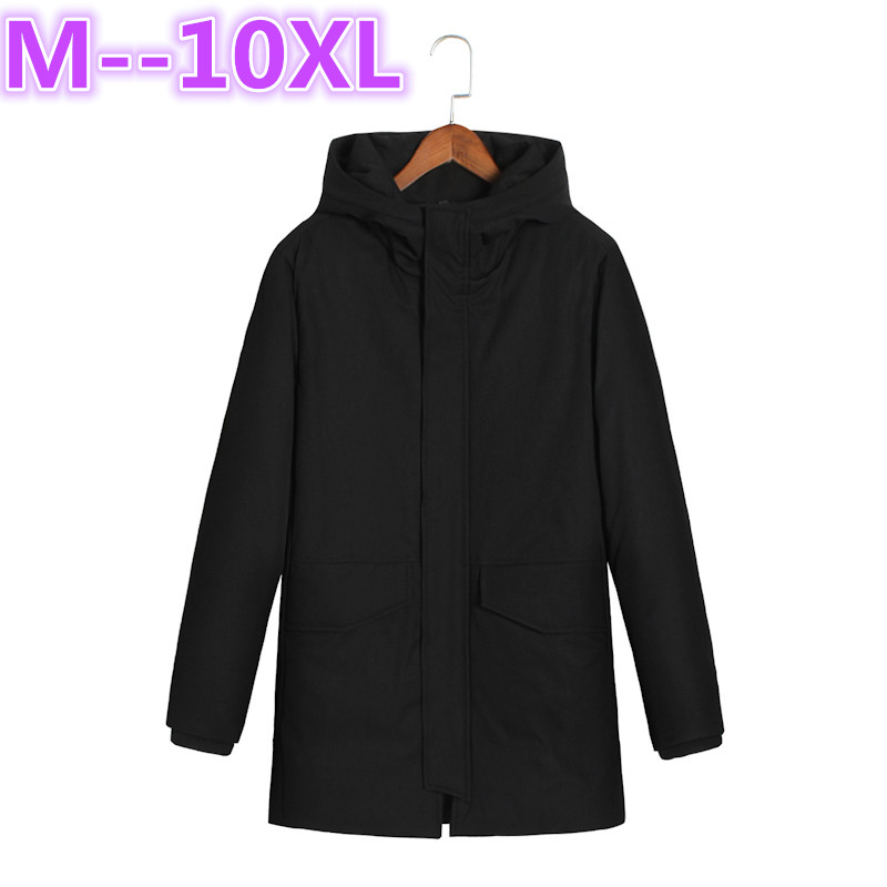 plus size 10XL 8XL 6XL Men Winter Casual New Hooded Thick Padded Jacket Zipper Loose Men And Women Coats Men Parka Outwear Warm e artist men s long winter jacket velvet padded jackets trench coats parka thick fit casual outdoor black wine plus size 5xl a65