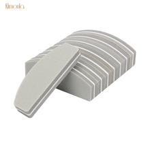 10pcs Mini Boat Buffing Sanding Nail File 100/180 UV Gel Varnish Files Gray Sponge Polish Blocks Professional Art Tools