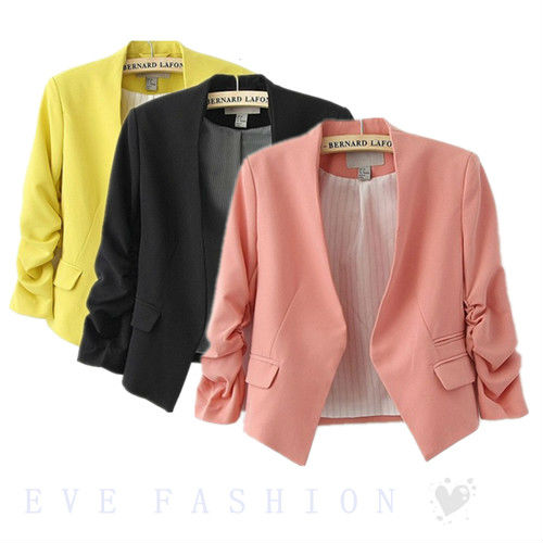 Online Shop Hot ! Womens Ladies Candy Colors 3/4 Sleeve Crop ...
