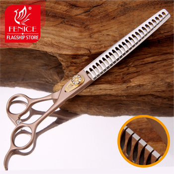 Fenice Professional JP440c 7.0 inch 7.5 inch High-end Pet dog Grooming Scissors thinning shears Thinning rate about 75% fenice jp440c 7 inch 8 inch high end pet dog grooming scissors thinning shears thinning rate about 80