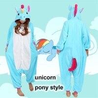 Unicorn Kigurumi Pajamas Animal Cosplay Costume Unisex Adult Onesie Sleepwear