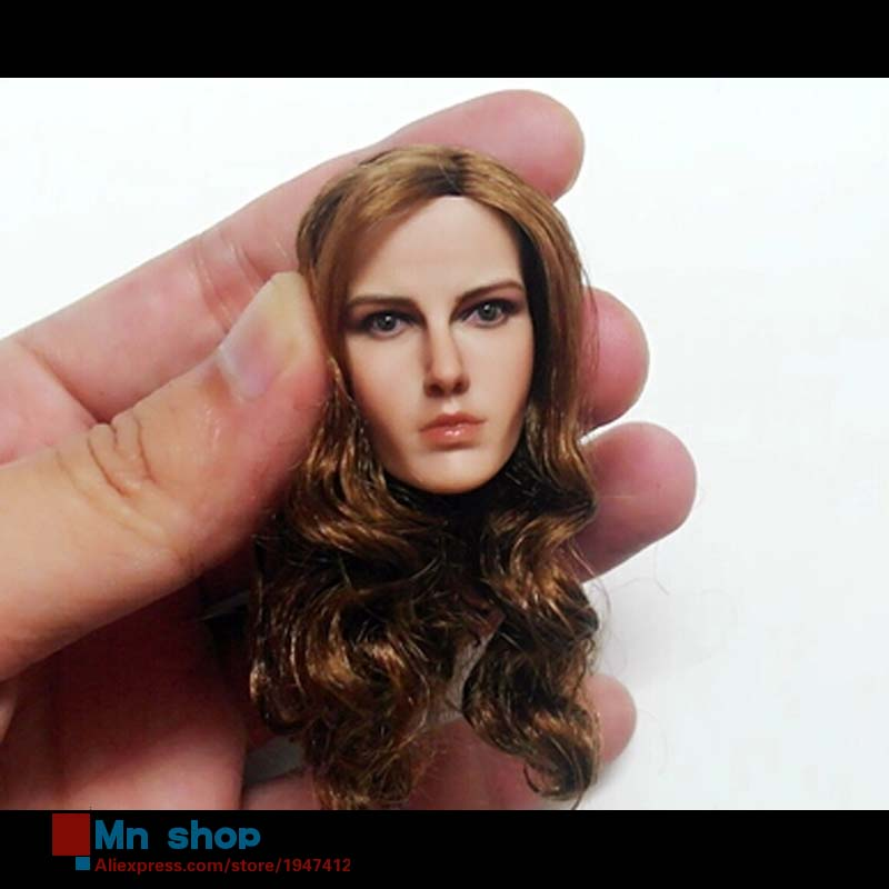 1/6 Head Sculpt Beautiful Female Head Carving Model Brown Hair for 12 Action Figure Doll Toys Accessories Gift 1 6 popular km 38 female head sculpt model with black hair for 12 female action figure body doll toys