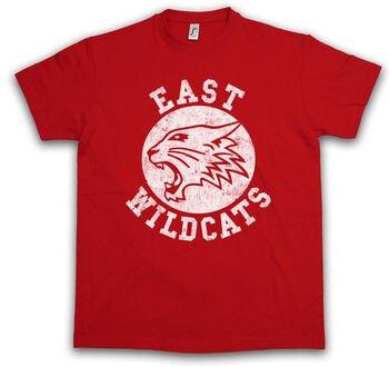 52810ef3 EAST WILDCATS Футболка Высокая школьный Баскетбол дикие музыкальные кошки  команда логотип символ Harajuku топы мода классический футболка с уникаль.