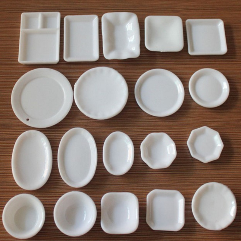18pcs Mini Dish Plates Tableware Dinnerware Sets Miniature Dollhouse Decoration Fairy Garden Home Decor DIY Accessories-in Figurines \u0026 Miniatures from Home ... : diy plate decorating - pezcame.com
