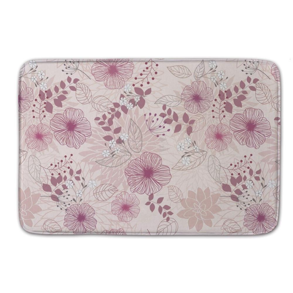 Warm Pink Flower Pattern Vintage Brand and Quality Door Mat Wrinkle Resistant Bathroom Carpet Washable. Popular Washable Bathroom Carpet Buy Cheap Washable Bathroom