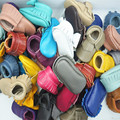 Zapatos de Bebé de Cuero genuino mocasines zapatos de bebé suaves Primeros Caminante Infante interior arco franja Niño Calza el envío libre