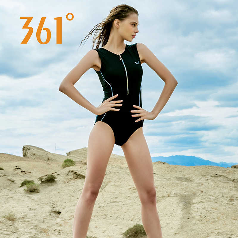 704ba4088ae90 ... 361 Sports Bathing Suit for Women Competition Swimwear One Piece  Swimsuit Zipper Red Black Pool Swim ...