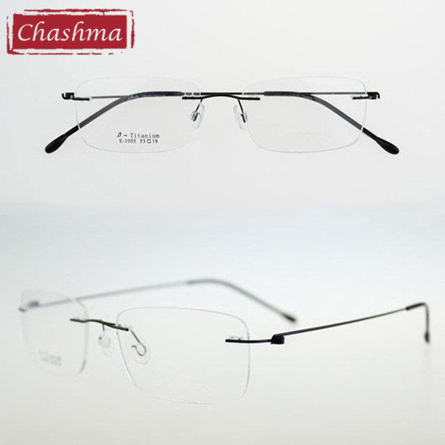 53d71ad7be Chashma Ultralight Titanium Rimless Glasses Frame Myopia Frame Good Look  and Comfort Glasses Frames