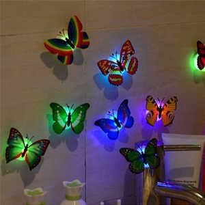 Image 3 - 10 Pcs สติ๊กเกอร์ติดผนังผีเสื้อไฟ LED สติ๊กเกอร์ติดผนัง 3D ตกแต่งบ้านตกแต่งห้อง vinilos decorativos para paredes ใหม่