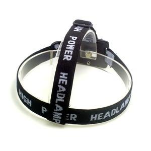 Image 4 - Tinhofire Portable Adjustable Gray Head Strap Mount Headband For LED Headlight Headlamp Flashlight Torch Lamp Light With O Ring