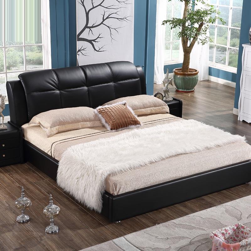 Recamaras Modern Box Mobili Per La Casa Single Letto A Castello Dormitorio Leather Mueble bedroom Furniture Moderna Cama Bed