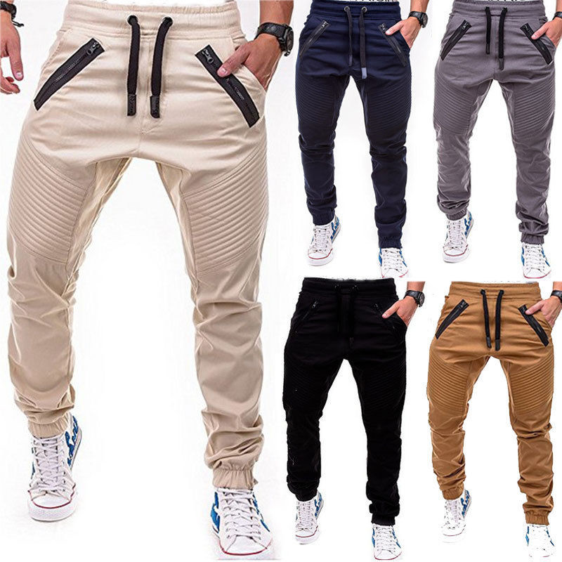 Hot Sales Men Gym Casual Sport Trousers Tracksuit Bottoms Skinny Joggers Sweat Pants Slim Fit Straight Pencil Jogger Cargo Pants