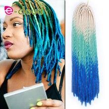 Hot Sale 20 Inches Faux Locs Crochet Braids Hair Havana Mambo Twist Three Tone Ombre Dread locks Braiding Hair Extensions