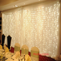 AC220V 6x3M 600LED Home Outdoor Holiday Christmas Decorative Wedding xmas String Fairy Curtain Garlands Strip Party Lights