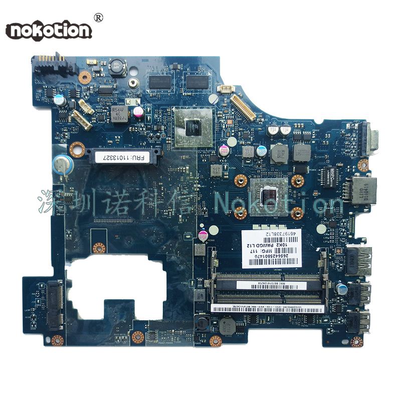 NOKOTION laptop motherboard for Lenovo G575 laptop motherboard LA-6757P DDR3 Main board Full test пазл бахус караваджо clementoni 1000 деталей