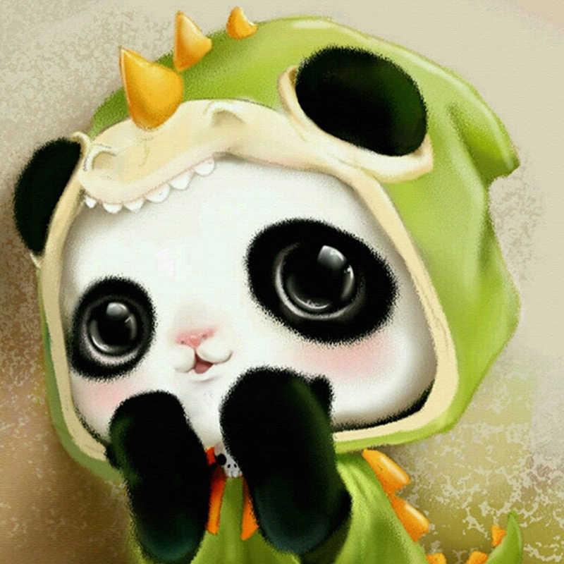 Animaux 5D diamant mosaïque petit Panda artisanat diamant peinture point de croix résine strass complet rond diamant broderie