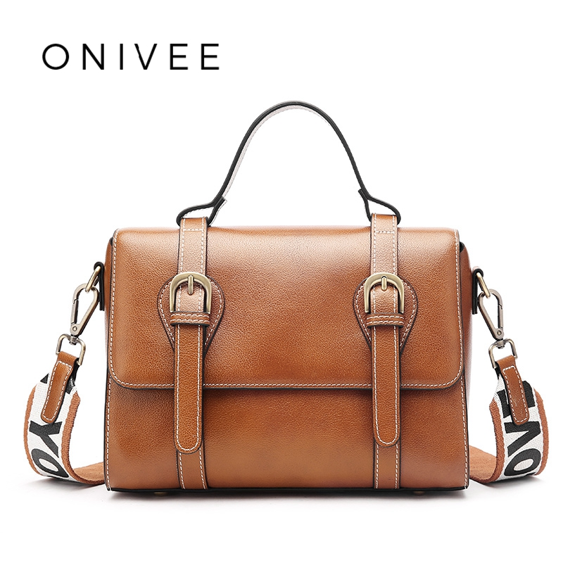 Здесь продается  ONIVEE  2018 Genuine Leather Vintage Women Leather Handbags Saddle Bag Shoulder Bag Women Torebka damska #0967  Камера и Сумки