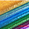 100 138cm 23colors High Quality Shiny Vinilic Sequins PU Leather Fabric For DIY Wedding Decotate Shoes